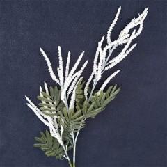 Ветка вереск 70 см - белый