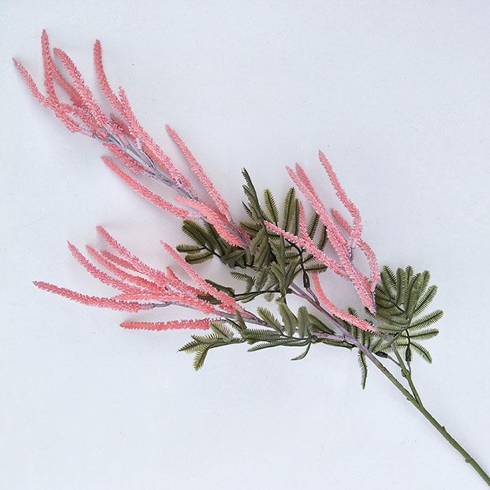 Ветка вереск 70 см - розовый