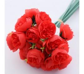 Букет розочки махровые - красные