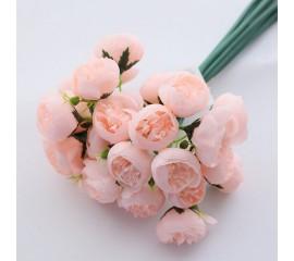 Букет розочки махровые - нежно-розовые