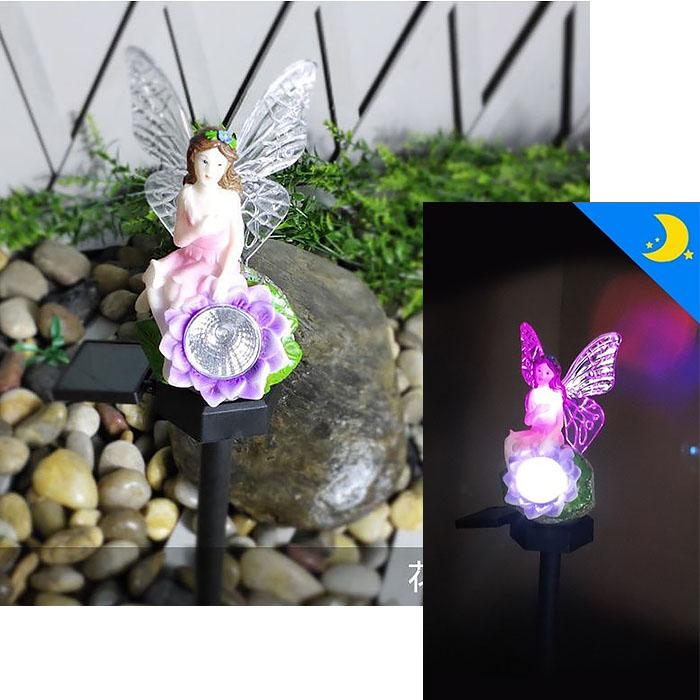 """Газонный светильник на солнечной батарее """"Фея"""", RGB + светильник"""