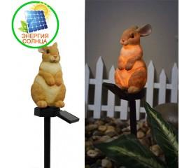 """Газонный светильник """"Заяц"""", на солнечной батарее"""