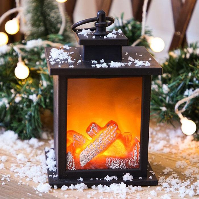 """Декоративный камин с подсветкой, с эффектом """"горящего огня"""" 19 см"""