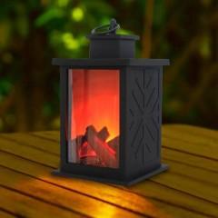 """Декоративный камин с подсветкой, с эффектом """"горящего огня"""" 25 см"""