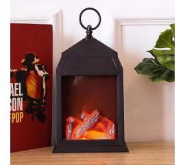 """Декоративный камин с подсветкой, с эффектом """"горящего огня"""" 27 см"""