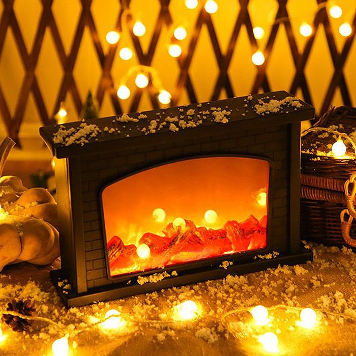 """Декоративный камин с подсветкой, с эффектом """"горящего огня"""" 30 см"""