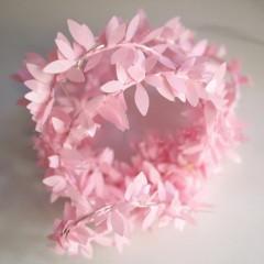 Гирлянда с розовыми листиками 100 ламп 10 м USB
