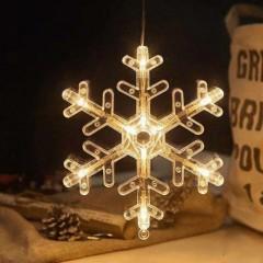 """LED подвеска с присоской """"Снежинка"""""""