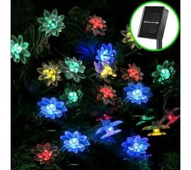 """Солнечная гирлянда """"Цветы лотоса"""" 20 ламп 3 м, цветная"""