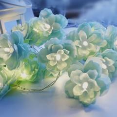 "Гирлянда ""Цветы вишни"" - мятные 10 ламп 1,5 м"
