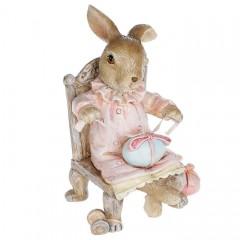 """Фигурка """"Зайчонок на стуле"""" 10 см"""