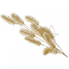 Веточка хвоя золото  62 см