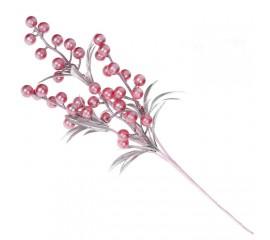 Веточка с ягодками - розовая 40 см