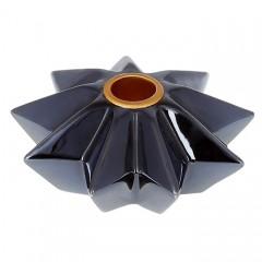 Подсвечник темно-синий 12 см