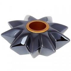 Подсвечник темно-синий 8 см