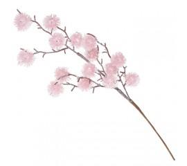 Ветка пушистик розовый с блеском 62 см