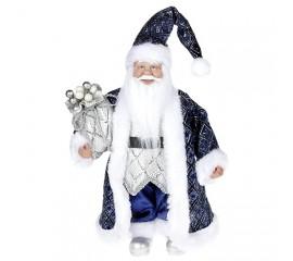 """Новогодняя фигурка """"Санта в синем"""" 30 см"""