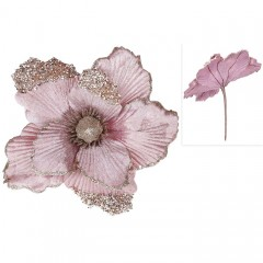 Головка магнолии розовая 21 см
