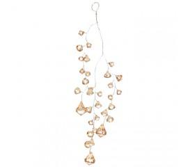 """Подвесной декор """"Кристаллы персиковые"""" 29 см"""