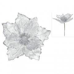 Головка магнолии серебро 23 см
