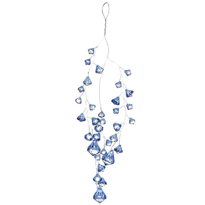 """Подвесной декор """"Кристаллы голубые"""" 29 см"""