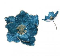 Головка магнолии голубой бархат 24 см