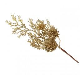 Веточка с шишкой золото 20 см