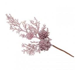 Веточка с шишкой розовый 20 см