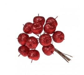 Яблочки в пучке красные 11 см
