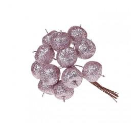 Яблочки в пучке розовые 11 см