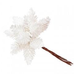 Шишки в пучке белые 11 см