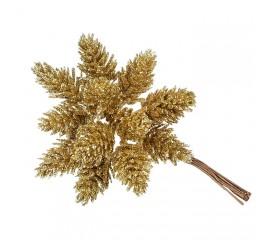 Шишки в пучке золото 11 см