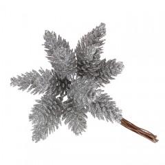 Шишки в пучке серебро 11 см