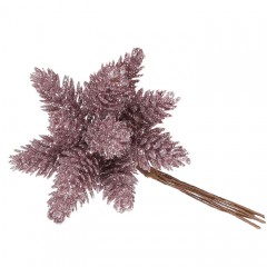 Шишки в пучке розовый 11 см