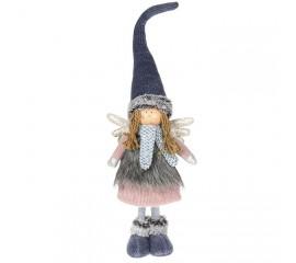 """Кукла """"Девочка - ангел в синем колпаке"""" 57 см"""