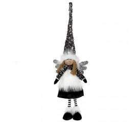"""Кукла """"Девочка - ангел в черном колпаке"""" 60 см"""