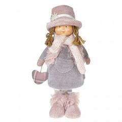 """Кукла """"Девочка в сером пальто"""" 36 см"""