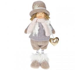 """Кукла """"Мальчик в сером пальто"""" 36 см"""