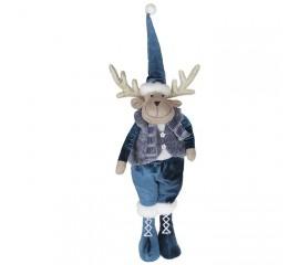 """Мягкая игрушка """"Олень - мальчик в синем колпаке"""" 68 см"""