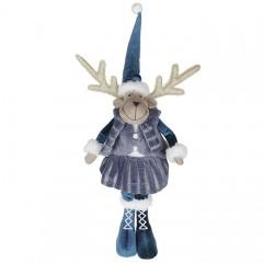 """Мягкая игрушка """"Олень - девочка в синем колпаке"""" 68 см"""
