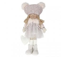 """Кукла """"Девочка в сером платье"""" 35 см"""