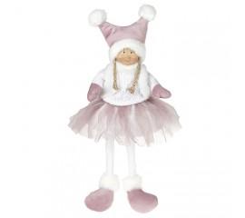 Кукла сидячая в розовой юбке 43 см
