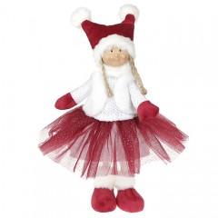 Кукла  в бордовой юбке 38 см