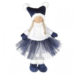 Кукла в синей юбке 38 см