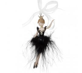 """Подвеска """"Балерина в черной юбке"""" 11 см"""