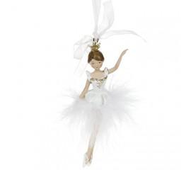 """Подвеска """"Балерина в белой юбке"""" 11 см"""