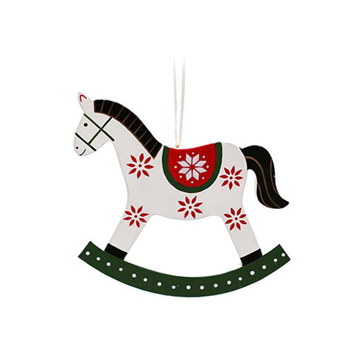 "Набор подвески ""Лошадки белые"" 9 см"