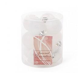 Набор елочных шаров 4 см - белые