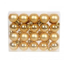 Набор елочных шаров 3см - золото