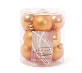 Набор елочных шаров 4 см золото